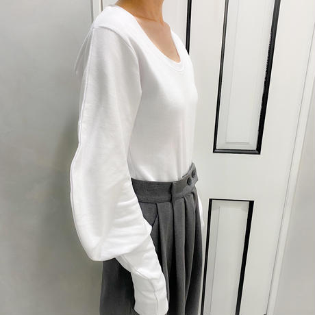 volume slleve long tshirt (white)