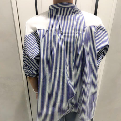 switching tshirt (white × stripe)