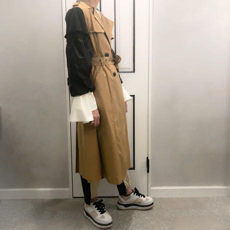 balloon sleeve trench coat