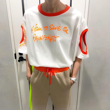 neon color tshirt  (white)