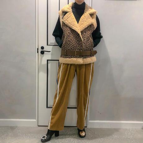 side line corduroy wide pants (brown)