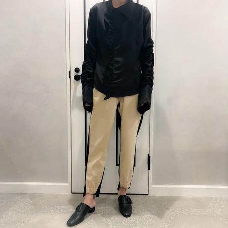 buycolor pants (beige × black)