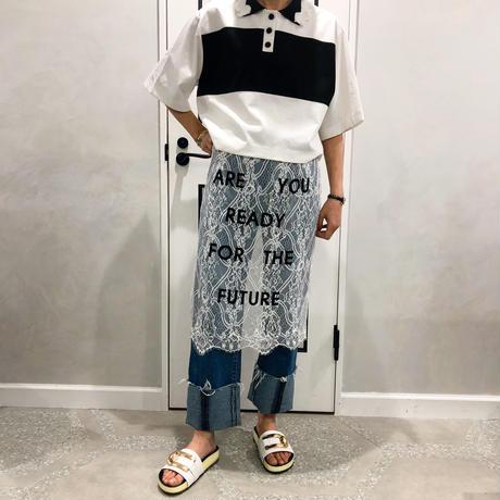 frill short shirt (white)