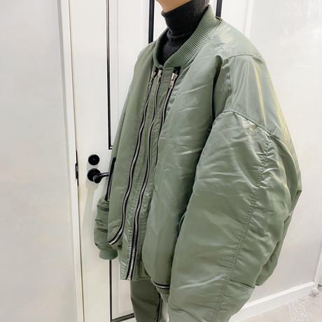 super over size bomber jacket (kahaki)