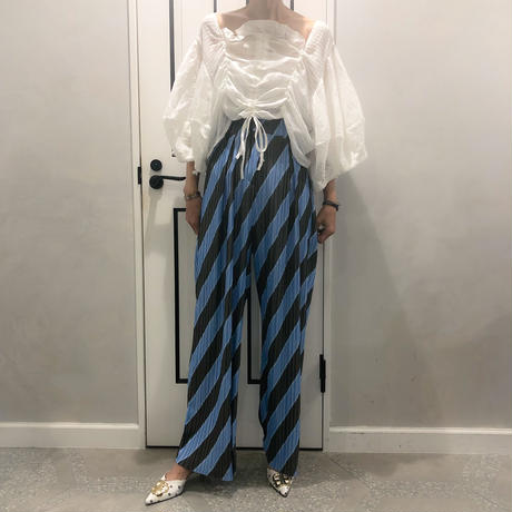 line long pants (blue)