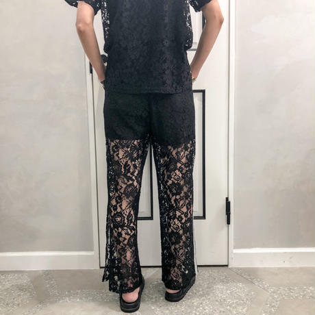 lace see-through pants