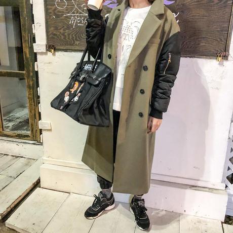 bomber style long coat