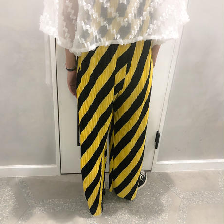 line long pants (yellow)