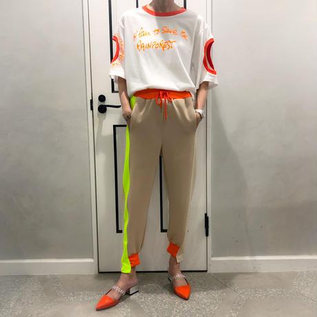 neon color pants (beige)