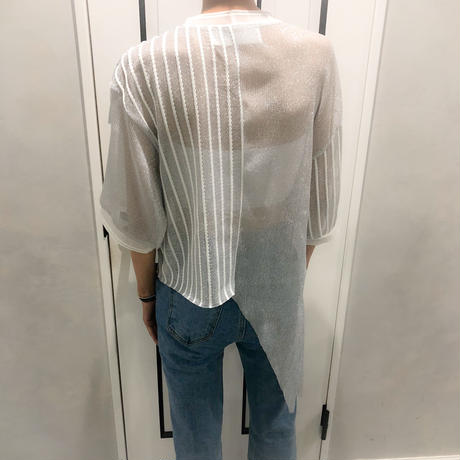 gritter frill see-through tops