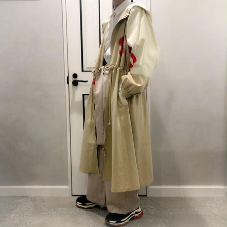 over size hood trench coat