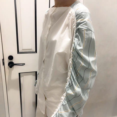over size shirring shirt (mint)