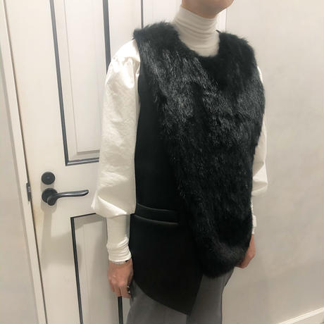 back belt fur vest