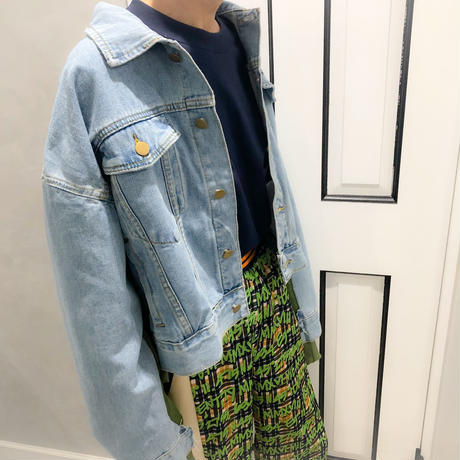 blouson combi denim jacket (kahaki)