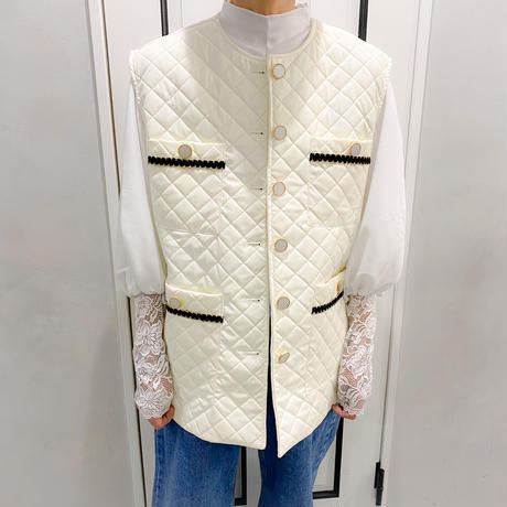 over size quilting vest