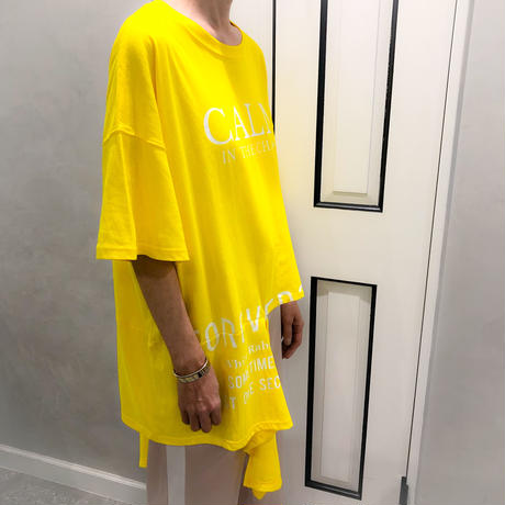 asymmetry tshirt (yellow)