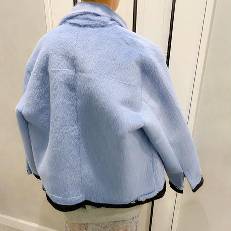 eco fur outer (blue)