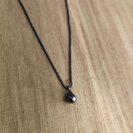 Black Silver Drip Pendant