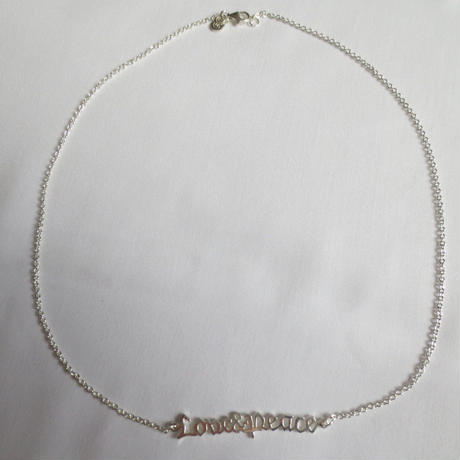 Love&Peace Necklace - Silver