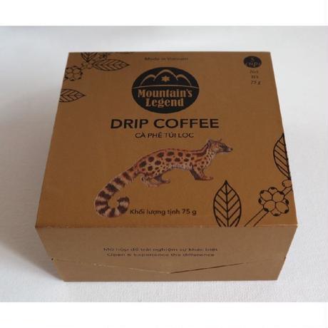 ベトナムコーヒー★Mountain's Legend 希少なジャコウネコのコーヒー コピルアク ドリップパック 5袋入り 75g