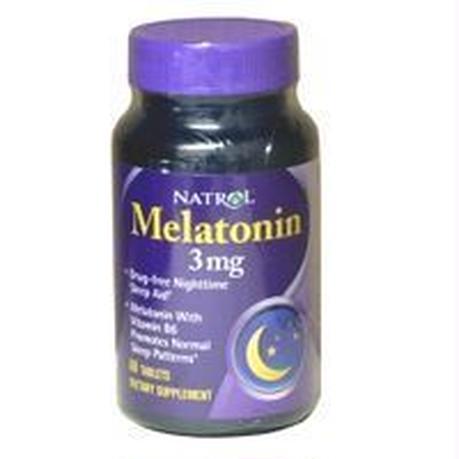 メラトニン 睡眠サプリメント Natrol ナトロール 3mg 60錠