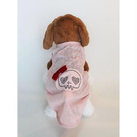 ドッグウエア★小型犬★可愛いドクロのスパンコールロゴ&リボン