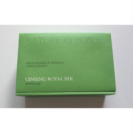 再入荷★【ネイチャーリパブリック Nature Republic】 Ginseng Royal Silk ジンセン ロイヤル シルク アンプル 4本セット