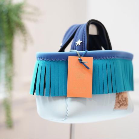 LozzSandra/fringe MINI tote bag(アクア フリンジ)