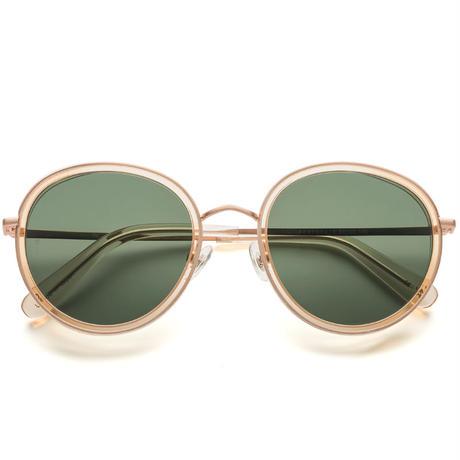 WONDERLAND【MONTCLAIR 08】Clear Beach Glass / Antique Rose Gold / Green Lens