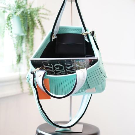 LozzSandra/fringe tote bag(ミント)