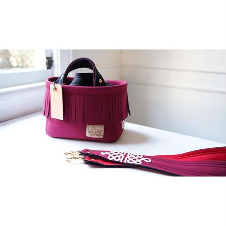 LozzSandra/fringe MINI tote bag[lace] collection series (ワイン)