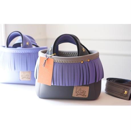LozzSandra/fringe MINI tote bag(ラベンダーフリンジ)