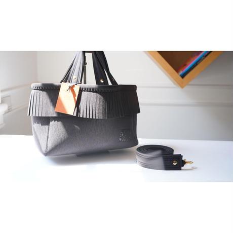 Loss Sandra/fringe tote bag/Ash Grey