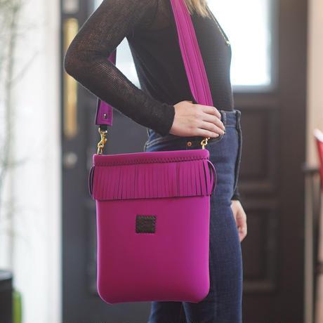 LozzSandra/Fringe Vertical Shoulder Bag【ROUGE】