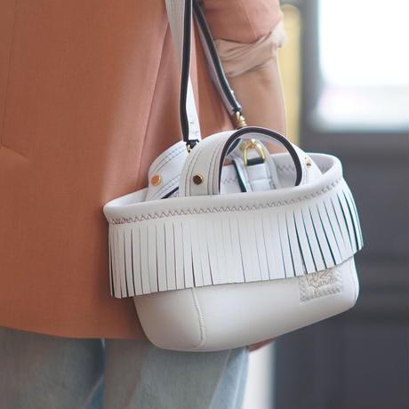 [予約販売]Lozz Sandra Fringe Mini Tote Bag / White