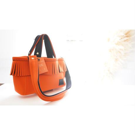 LozzSandra/fringe tote bag(オレンジ)