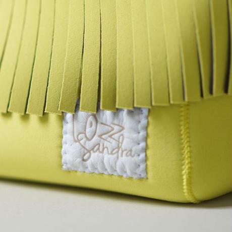 [受注販売]Lozz Sandra Fringe Mini Tote Bag / Yellow × White