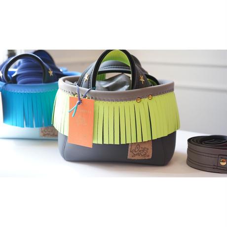 Lozz Sandra/fringeminitotebag/Neon Green