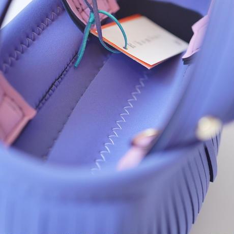 Lozz Sandra Fringe Mini Tote Bag / Lavender × pink