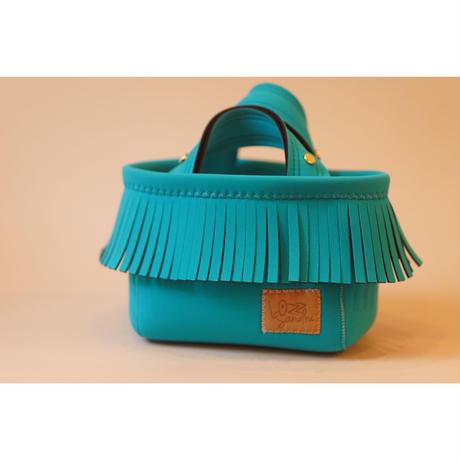 [予約販売]Lozz Sandra Fringe Mini Tote Bag / Turquoise