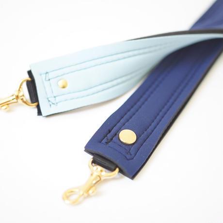 Lozz Sandra Fringe Mini Tote Bag / Ice blue × Slate × Navy