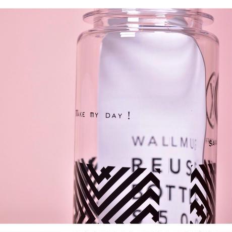 SAVAS COFEE Original  500ml【make my day】clear  tumbler. 《Black》