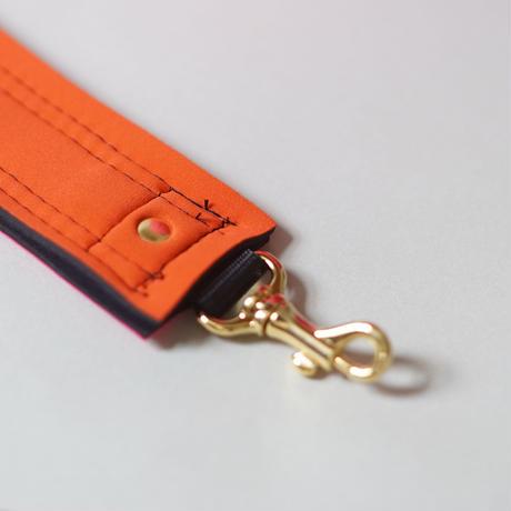 [予約販売]Lozz Sandra Fringe Mini Tote Bag / Orange × Neon pink