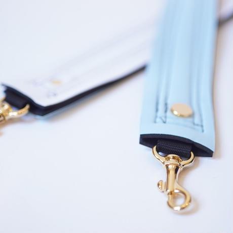 Lozz Sandra Fringe Mini Tote Bag / Ice blue × White