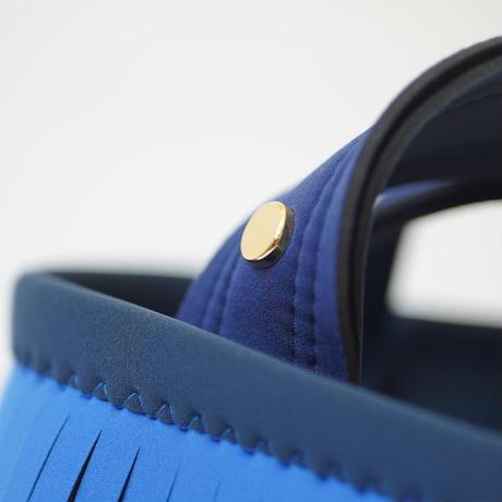 Lozz Sandra Fringe Mini Tote Bag / Ice blue × Blue × Slate
