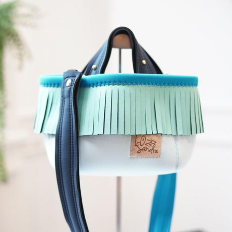 Lozz Sandra/fringe MINI tote bag(ミント フリンジ)