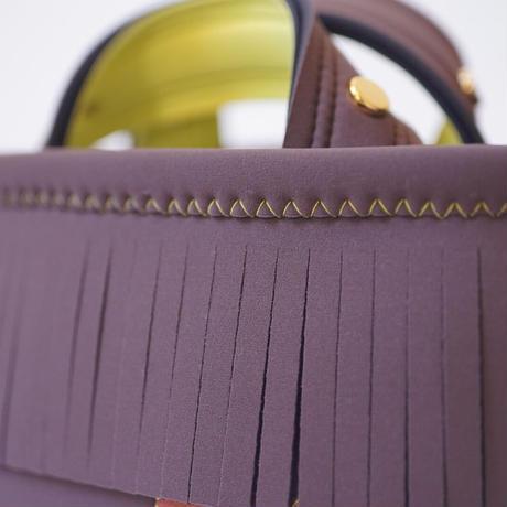 [予約販売商品] Lozz Sandra Fringe Mini Tote Bag / Brown × Yellow