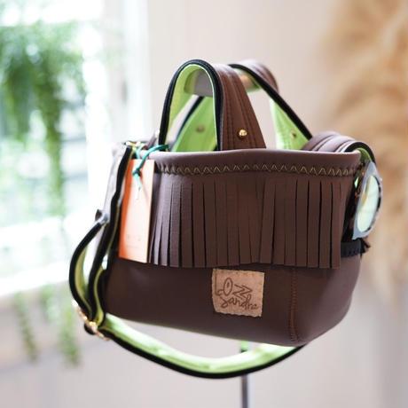 LozzSandra/fringe MINI tote bag(ブラウン)