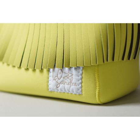 [予約販売]Lozz Sandra Fringe Mini Tote Bag / Yellow × White