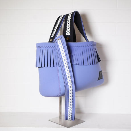 Lozz Sandra/fringe tote bag「lace」Lavender